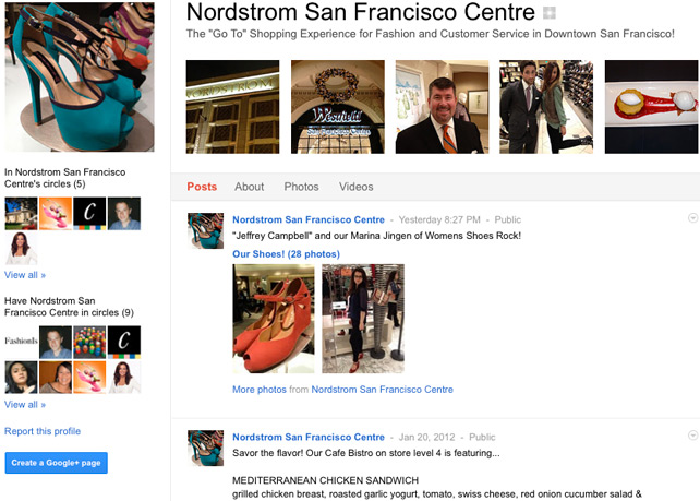 Nordstrom San Francisco Google