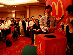 McDonald's earthquake relief effort