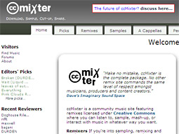 ccMixter screen grab