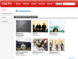 Last.fm homepage redesign