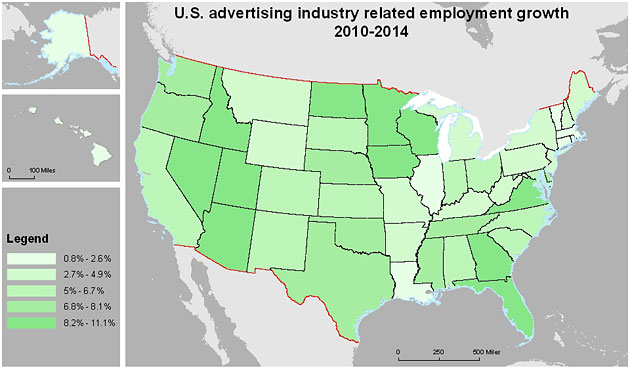 Ad Jobs map