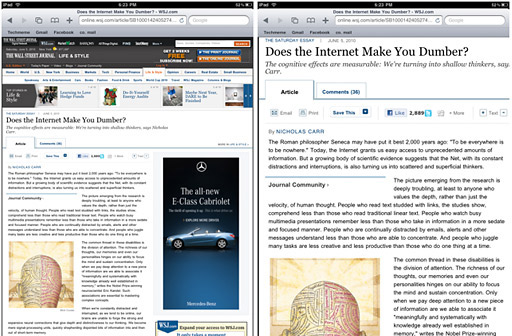 internet make you dumber For whatever reason, a number of articles appeared this past weekend in the wall street journal, washington post and new york times on the cognitive impacts of the internet negative impacts seem to be outweighing the positive, if you read the stories on saturday, for instance, there were two.