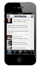 Download the Ad Age                                                                  iPhone app