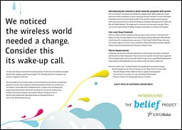 Belief Project newspaper spread