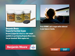 Benjamin Moore interactive ad