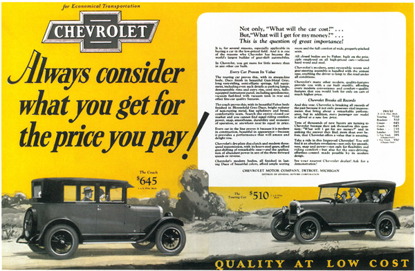 100 Years Of Chevrolet Advertising A Timeline