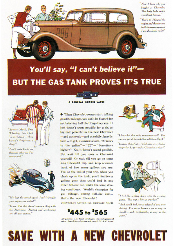 100 Years Of Chevrolet Advertising A Timeline Special Chevy 100