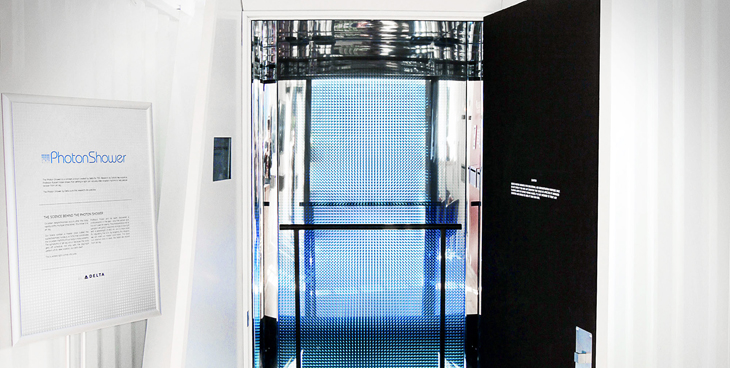 delta photon shower