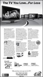 Dish Network print ad