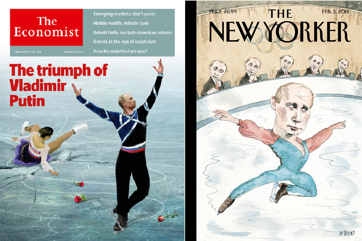 As Sochi Complaints Grow, Putin Skates Onto New Yorker and Economist