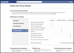 Facebook privacy controls