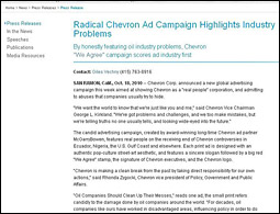 Fake Chevron press release