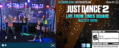 Just Dance 2 banner ad