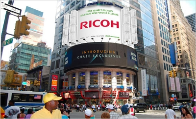 Ricoh's Times Square Eco-Billboard