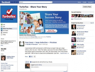 What's not to like? By liking TurboTax's Facebook page, fans get access to video tutorials aimed at giving individuals tips on how to get larger tax refunds.