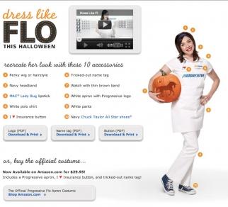 Progressive offers tips to dress like Flo for Halloween.