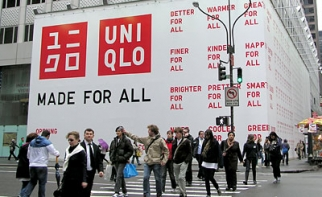 Branding outside Uniqlo stores under construction.