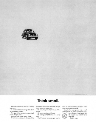 Volkswagen ads are often held up as examples of the height of the creative revolution.
