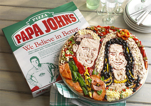 Papa Johns William and Kate pizza
