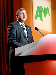 Neil Golden addresses the ANA Annual Conference in Phoenix.