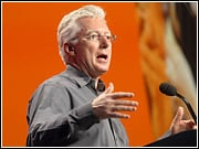 A.G. Lafley during his refreshing keynote address at the ANA conference today.