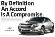 This ad doesn't hammer the words 'an Accord is a compromise' into a  reader's mind.
