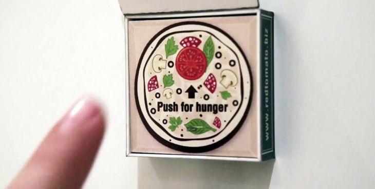 red tomato pizza fridge magnet