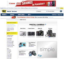 Advertisers have access standard ad units on Best Buy's global home page, every product home page and BestBuyOn.com