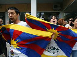 Tibetan protestors