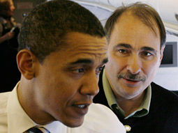 Barack Obama and David Axelrod