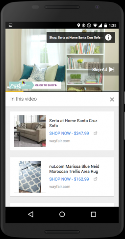 YouTube Adds Click-to-Shop Button to TrueView Ads | AdAge