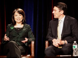 Claire Huang and Tim Armstrong at Advertising Age's Digital Conference today.