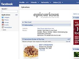 Epicurious  on Facebook