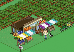 In FarmVille, more that 1 million people have purchased Cascadian Farm organic blueberries, the game's first branded crop.