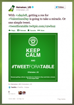 tweet for a table