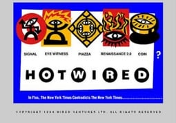 Hotwired.com's home page as it appeared in 1994.