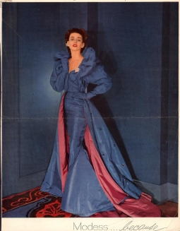 Modess ad from 1953