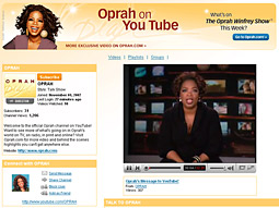 Oprah's YouTube channel represents the largest external media partnership Ms. Winfrey has entered for her content.