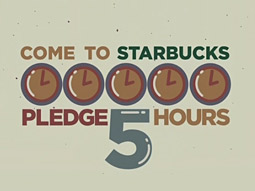 Starbucks' 'I'm In' spot is set to air on CNN, and CNN Headline News, as well as a variety of NBC platforms.