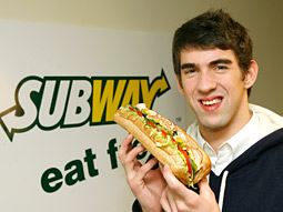 With the Phelps deal, Subway intends to use one of McDonald's most famous admirers to steal its market share.