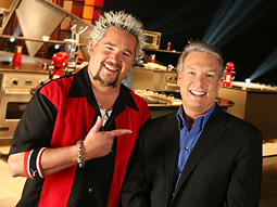 Guy Fieri and Marc Summers of Ultimate Recipe Showdown Sunday