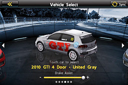 VW's Real Racing GTI game for the iPhone and iPod Touch in the App Store includes a virtual showroom.