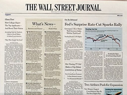 The Wall Street Journal reported a 1.82% increase in average paid circulation on weekdays over the six months ending in September, compared to the period a year earlier.