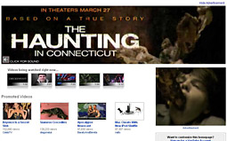 YouTube gave Lionsgate two rich-media units and exclusivity on its home page to advertise 'The Haunting in Connecticut.'