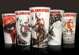 God of War III Slurpee cups