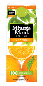 The first round of redesigned packaging will be rolled out with Minute Maid in the U.S. beginning this month.