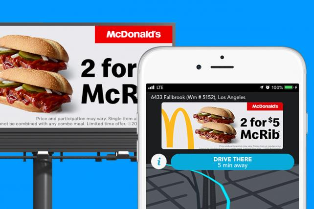McDonald's is seeing success with Waze in boosting ad