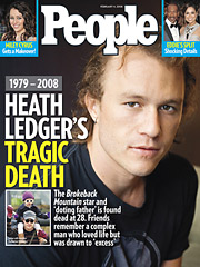 Heath Ledger People magazine