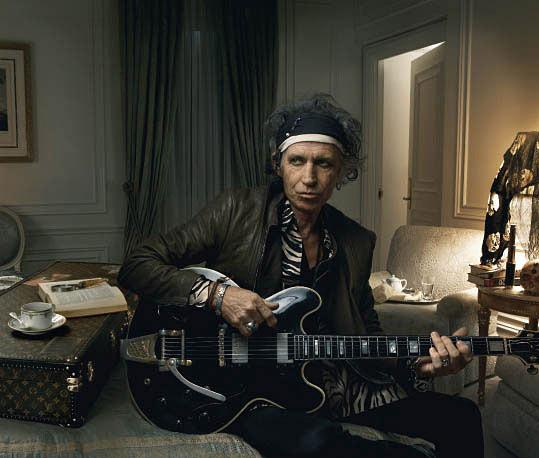 Гитарист Rolling Stone Кит Ричардс (Keith Richards) для Louis Vuitton.