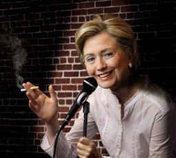 Hillary Clinton as comedienne